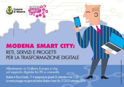 Mostra _Modena Smart city: reti, servizi e progetti per la trasformazione digitale-cartolina invito